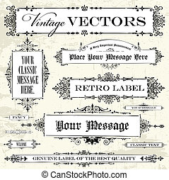 Vector Vintage Label Set. Easy to edit. Perfect for labels...