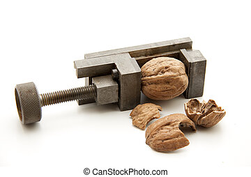 machinist vise to open a nut
