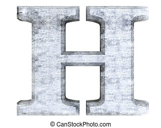 Letter H - A metallic and isolated Letter. 3D rendered...
