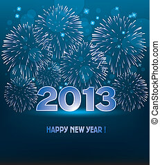 vector new year fireworks - vector new year 2013...