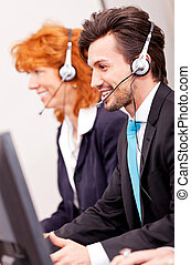 callcenter service communication in office operator