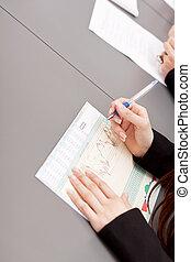 reunião, Grupo, escritório, negócio, equipe