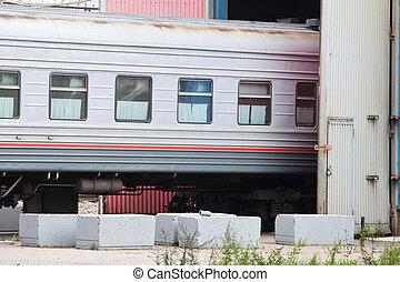 depot - Passanger coach in a depot