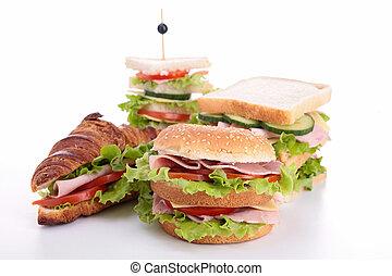 assortment of sandwich