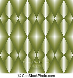 Diamonds on a metal green backgroun - Vector illustration