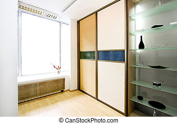 Wardrobe bamboo wide - Double big bamboo closet and glass...