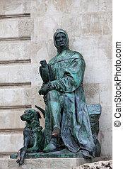 Galeotto Marzio Statue in Budapest