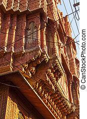 beautiful old haveli in Bikaner, Rajasthan, India