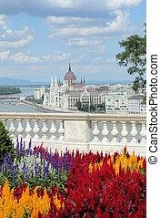 Sightseeing in Hungary, The Hungarian Parliament , idyllic...