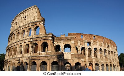 Famous Colosseum or Coliseum in Rome(Flavian Amphitheatre),...