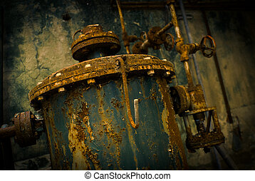 rust rust - abandoned industrial container