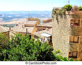 Ancient Etruscan Architecture of Volterra in Tuscany - Italy