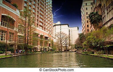 River and Buildings of San Antonio, Texas