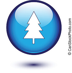 Christmas tree in blue