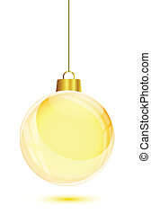Gold christmas tree hanging