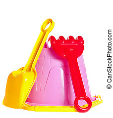 baby bucket, spade and rake - baby bucket, shovel and rake...