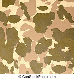Desert camouflage pattern on leather background.