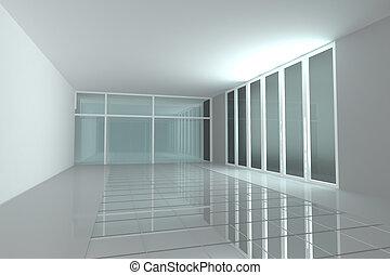 Empty room for interior seminar room color wall - Empty room...