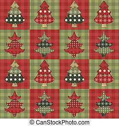 Christmas tree seamless pattern 2 - Christmas tree seamless...