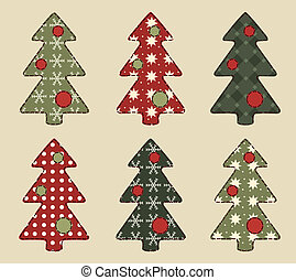 Christmas tree  set 6