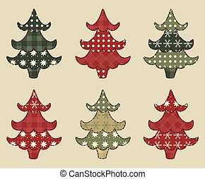 Christmas tree set 1 - Christmas tree set for scrapbooking...