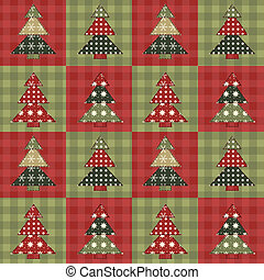 Christmas tree seamless pattern 3 - Christmas tree seamless...