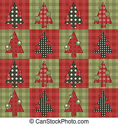 Christmas tree  seamless pattern 4
