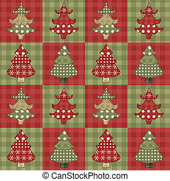Christmas tree seamless pattern 1 - Christmas tree seamless...