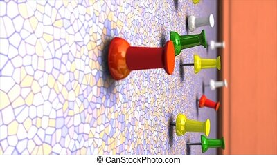 Wall pin 3d animation