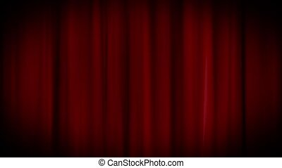 Swaying Curtains - Red curtains are gently swaying Looping...