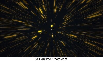 Warp Speed Lines - Warp speed lines continuously moves...