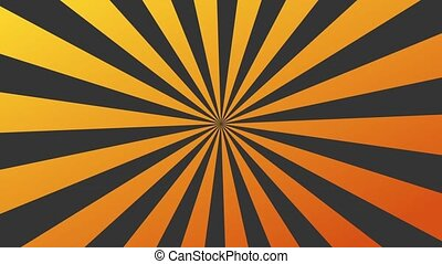 Rotating Sunburst - An orange sunburst is rotating . Looping...