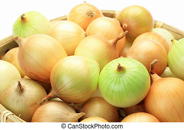 petit onion - I put many petit onions in a colander and took...