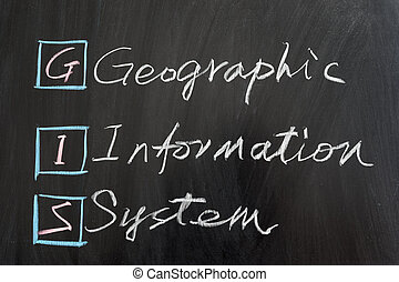 GIS, Geographic Information System, written on the...