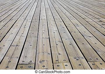 Wooden floor in room Battens A background