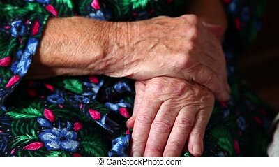 Close-up of hands Elderly