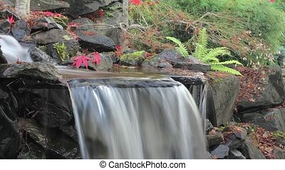 Timelapse of Waterfall in Backyard - Timelapse of Waterfall...