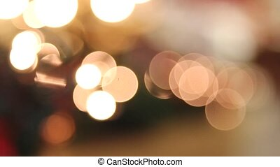 Holiday Christmas Lights Bokeh