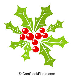 Holly berry - Christmas holly berry illustration