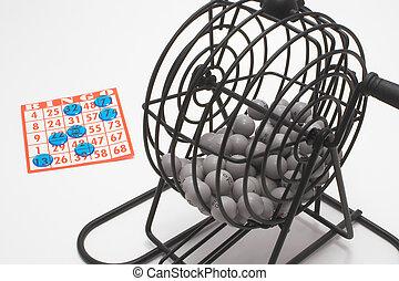 Bingo, gaiola, cartão