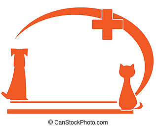 veterinary symbol with place text - veterinary symbol with...