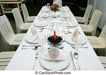 dining table - romantic dining table for nine guests