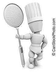 Chef - 3D render of a chef
