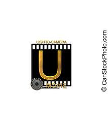 Alphabet Movie Bluff U - The letter U, in the alphabet set...