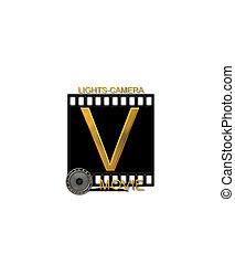 Alphabet Movie Bluff V - The letter V, in the alphabet set...