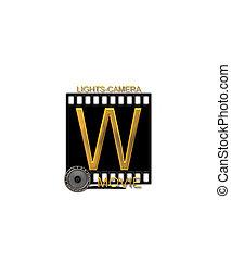 Alphabet Movie Bluff W - The letter W, in the alphabet set...