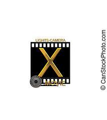 Alphabet Movie Bluff X - The letter X, in the alphabet set...