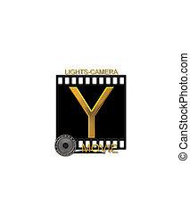 Alphabet Movie Bluff Y - The letter Y, in the alphabet set...