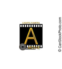 Alphabet Movie Bluff A - The letter A, in the alphabet set...