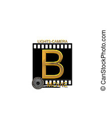 Alphabet Movie Bluff B - The letter B, in the alphabet set...